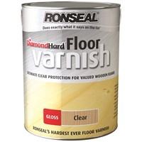 Ronseal Diamond Hard Floor Varnish Gloss 5 Litre Stains