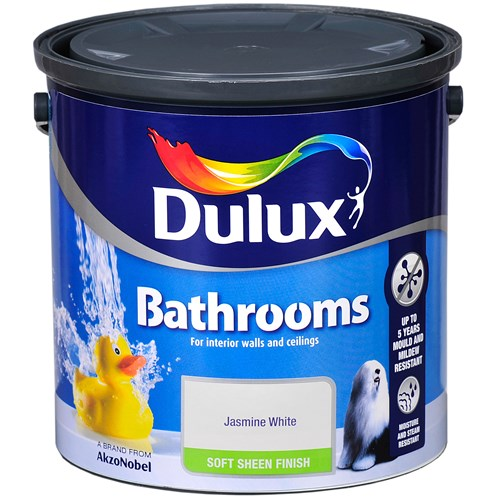 Dulux Bathrooms Soft Sheen Colours Paint - 2.5 Litre