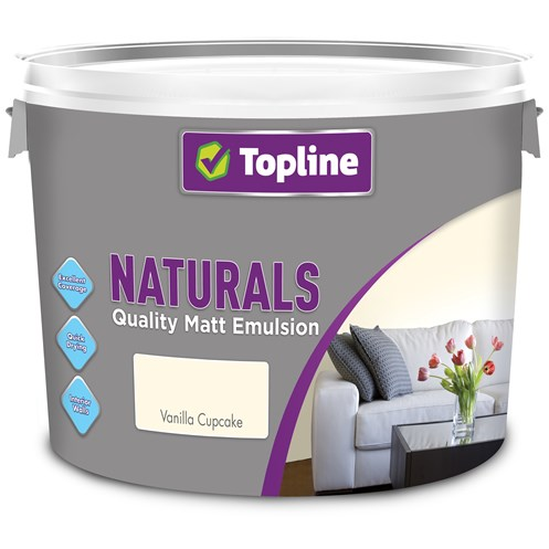 Topline Naturals Matt Emulsion Colours Paint - 10 Litre