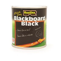 Rustins  Quick Dry Blackboard Paint Black - 500ml