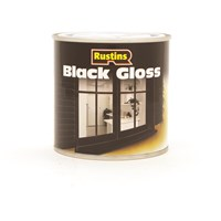 Rustins  Black Gloss Paint - 250ml