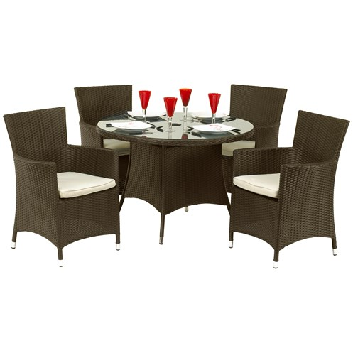 Royalcraft  Cannes Rattan 4 Seater Round Furniture Set