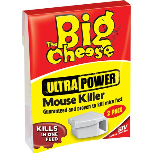 The Big Cheese  Ultra Power Mouse Killer-Twinpack Bait Box