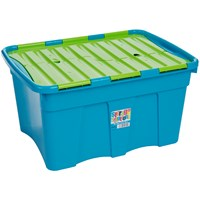Wham  Croc Storage Box Blueberry & Lime - 54 Litre
