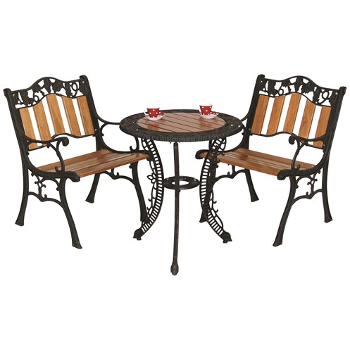 Mercer Donard Grape Bistro Garden Furniture Set