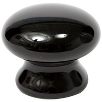 Phoenix  Ceramic Door Knob - Black