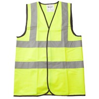 Bodyworks  2 Band Hi Viz Vest - Yellow