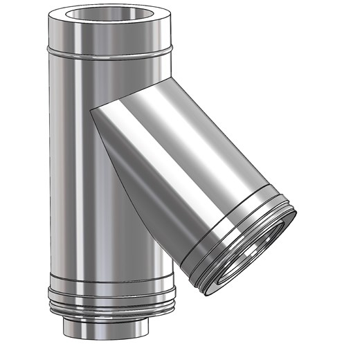 Mi-Flues System 2 Twin Wall Insulated Flue Pipe 45° Tee