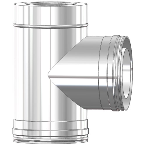 Mi-Flues System 2 Twin Wall Insulated Flue Pipe 90° Tee