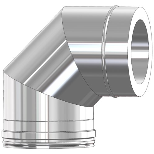 Mi-Flues System 2 Twin Wall Insulated Flue Pipe 90° Bend