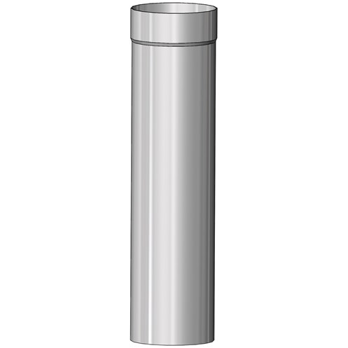 Mi-Flues System 1 Single Wall Flue Pipe for Multi-Fuel - 1m Length