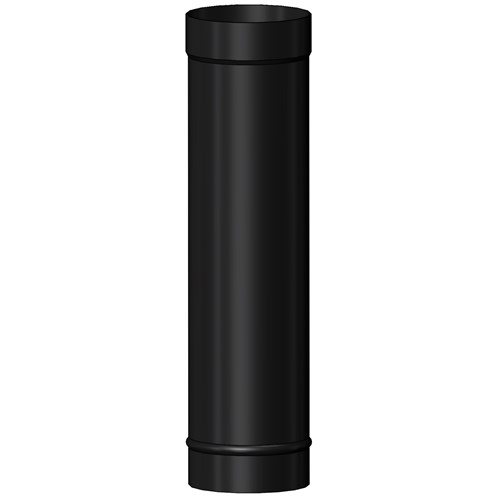 Mi-Flues System 7 Vitreous Enamelled Flue Pipe 300mm Length - Matt Black