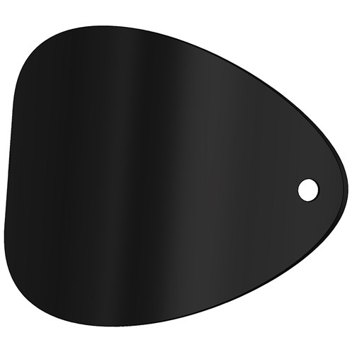 Mi-Flues System 7 Vitreous Enamel Door for Flue Pipe Bend - Matt Black