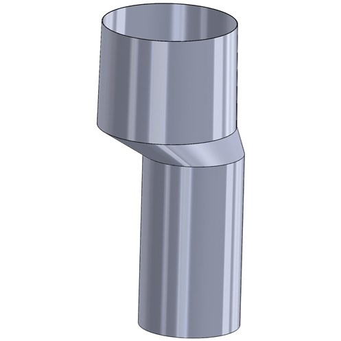 Mi-Flues  75mm Offset Internal Clay Flue Adaptor