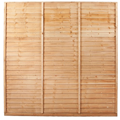 Independent Fencing  Shiplap Pressure Treated Fence Panel Brown - 1800 x 1800mm
