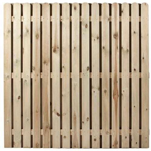 Independent Fencing  Premier Round Top Hit & Miss Fence Panel - 1800 x 1800mm