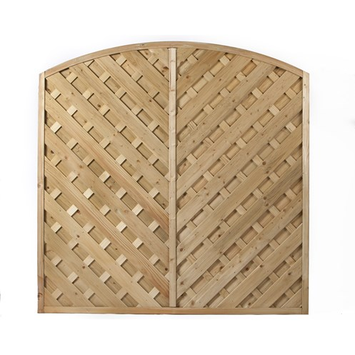 Independent Fencing  Duston Arch Up Diagonal Fence Panel - 1800 x 1800mm