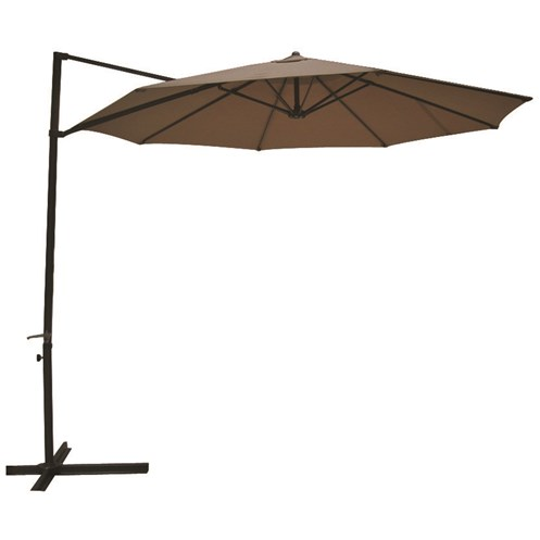 Euroactive  3m Overhang Parasol - Taupe
