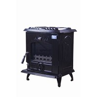 Blacksmith Bellows 8kW Non Boiler Stove - Black Enamel