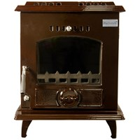 Blacksmith Bellows 11kW Boiler Stove - Brown Enamel